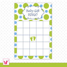 photo baby shower bingo board image