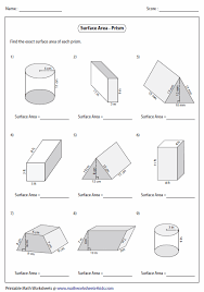 surface area problems worksheet free worksheets library download