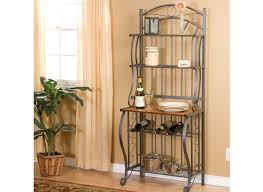 Iron Bakers Rack Cool And Beautiful Paint Colors For Kitchen For The Convenience Of