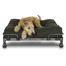 buy the mobile lord lou free wheeler designer dog bed set in the