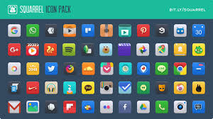 android icon pack squarrel icon pack for android by charmeleo on deviantart