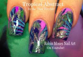 nail art easy tropical nails fun palm tree nail design tutorial