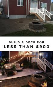 Building Patios by To Build A Simple Diy Deck On A Budget