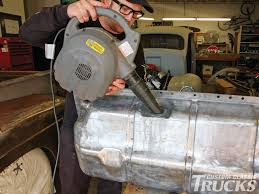 Fixing Up Old Ford Truck - ford f 1 pickup truck rusted gas tank repair rod network