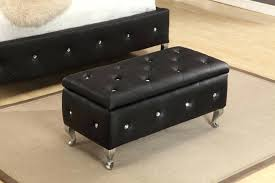 leather ottoman storage bench u2013 floorganics com