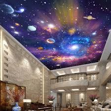 Custom 3D Wallpaper Star Universe Galaxy Room Suspended