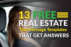 13 free real estate text message templates that get you answers