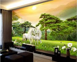 custom mural 3d wallpaper unicorn forest grassland decor painting custom mural 3d wallpaper unicorn forest grassland decor painting picture 3d wall murals wallpaper for living room walls 3 d in wallpapers from home