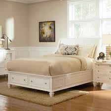 modern bedroom furniture brown pile rug gray slip cover
