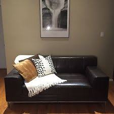 ikea leather loveseat ikea leather sofas loveseats chaises ebay