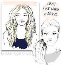 sketches of hair fabulous doodles fashion illustration blog by brooke hagel dry
