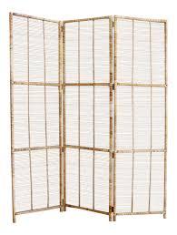 vintage bamboo u0026 rattan folding screen room divider chairish