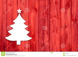 red wooden christmas background with a white tree stock