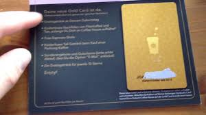 starbuck gold card unboxing auspacken starbucks gold card für deutschland