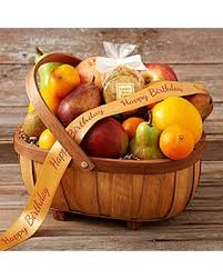 organic fruit basket amazing deal organic living fruit basket with happy birthday ribbon