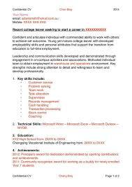 how to write winning cv ayo ngaca