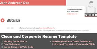 Free Resume Website Templates 20 Free And Premium Resume Cv Html Website Templates And Layouts