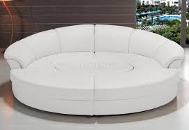 Sofa Folding Bed 2276 Circle Sectional Sofa In White Bonded Leather By Vig