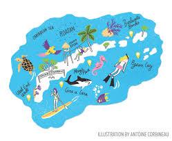 map of roatan honduras best scuba diving and thing to do in roatan sport diver