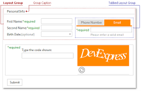 devexpress layout control video layout group site navigation and layout asp net controls and mvc
