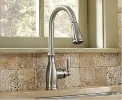 traditional kitchen faucets moen brantford pull kitchen faucet splash galleries