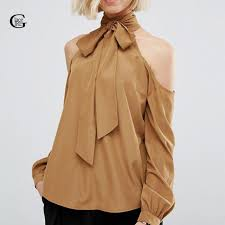 blouses with bows lace 2017 fashion shoulder blouses formal