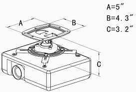 Projector Mount For Drop Ceiling by Projector Ceiling Mount Pmd Previously Pms Series Manufactured