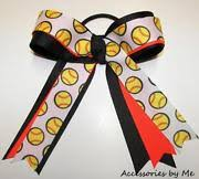 softball hair bows softball ribbon ebay