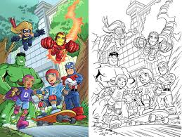 marvel comic book coloring pages contegri com