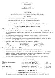 bookkeeper resume exles resume sle office support bookkeeping resumes