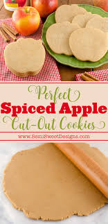 spiced apple cut out cookies royal icing spreads and recipes for