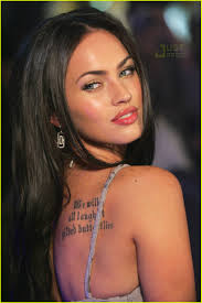 megan fox has a tattoo next to her pie photo 434771 megan fox