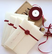 vellum envelopes wax seal stamps tied up with string paper