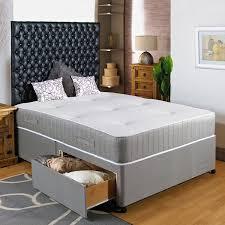 hf4you 3ft6 large single divan bed 2 drawers same side no