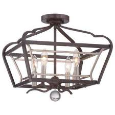 Square Ceiling Light Fixture by Square Semi Flushmount Lights Ceiling Lights The Home Depot