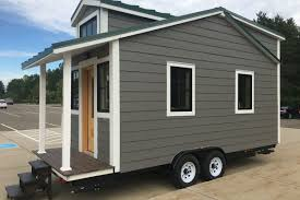 a tiny home built by michigan state university students is up for