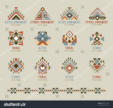 tribal pattern set geometric shapes stock vector 679517488