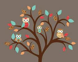 owl on tree wall decal vinyl sticker nursery wall decal 090