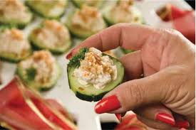 cucumber canapes smoked salmon and cucumber canapés aletia dupree