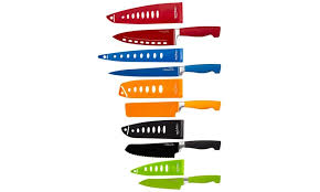 wolfgang puck kitchen knives wolfgang puck bistro elite colored nonstick cutlery set 10