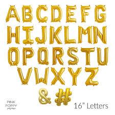 balloon letters gold letter balloons number balloons foil 16 inches