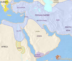 middle east map moses time map of middle east at 500bc timemaps