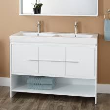 undermount trough sink bathroom rectangla white ceramic apron