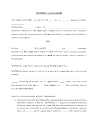 Rental House Lease Agreement Template Commercial Lease Agreement Templates 13 Template Samples Blogodeco