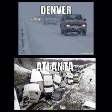 Atlanta Snow Meme - are small cars harder to control on ice page 2 truckersreport