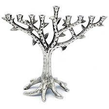 menorah tree of menorah tree of contemporary textured chrome design for