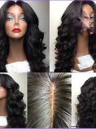 gray hair pieces for american human hair wigs with natural part hairstyle ideas