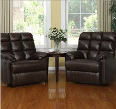Contemporary Armchairs Cheap Leather Recliner Chairs Set Of 2 Large Comfort Overstuffed Wall
