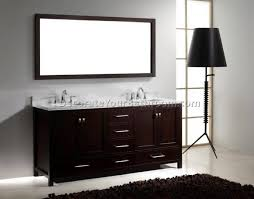 Insignia Bathroom Vanities Adornus Camile 60 Inch Modern Sink Bathroom Vanity Black