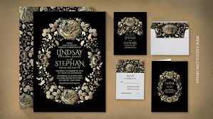 and black wedding invitations read more vintage floral black and gold wedding invitation